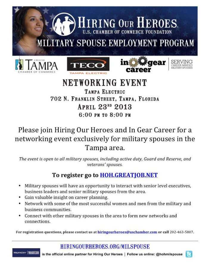 hiring out heroes  Network evnet tampa florida